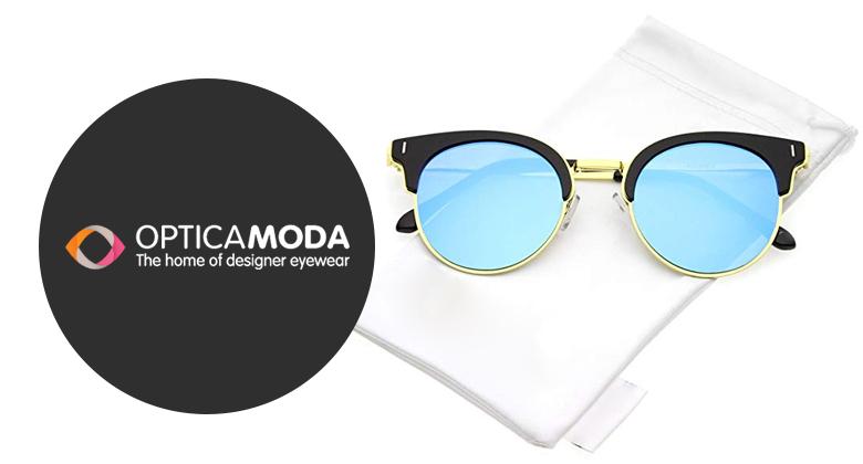 Modern Half-Frame Sunglasses